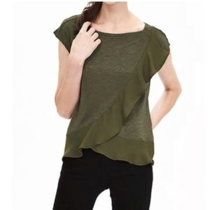 Banana Republic Ruffle Front Blouses Top